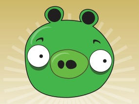 The green pig from Angry Birds